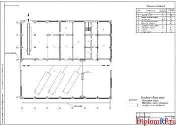 Чертеж планирования производственного корпуса (формат А1)