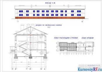 Разработка курсового проекта жилого двухэтажного дома с техническим обеспечением