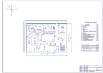 2.Генеральный план с экспликацией зданий А1