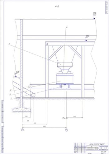 2.Планировка участка смесеприготовления А1