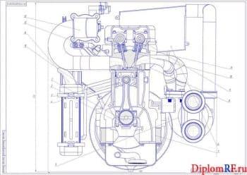 Разработка ДВС на 100 кВт легкового автомобиля с разработкой охладителя по схеме жидкость-воздух