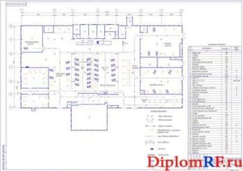 Планировочное решение производственного корпуса (формат А1)