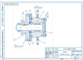 2.Сборочный чертеж шкива А3