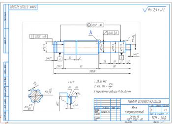 2.Рабочий чертеж ступенчатого вала А3