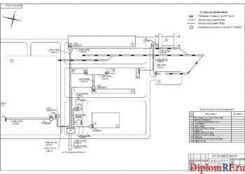 Схема генеральный план с сетями электроснабжения (формат А1)