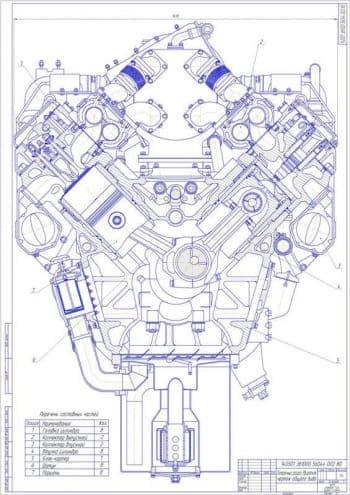 Проектирование газопоршневого двигателя мощностью 1000кВт  для работы на биогазе