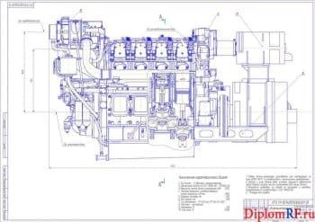 Разработка дизель – генератора судового мощностью 1250 кВт размерностью 8 ЧН 25/28