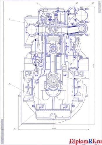 Разработка судового дизель-генератора размерностью 22/25 мощностью 1000 кВт