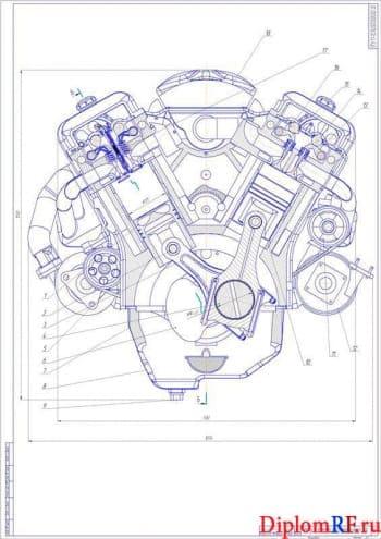 Проектирование двигателя мощностью 250 кВт для карьерного самосвала массой 24 тонны