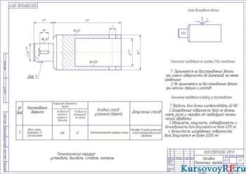 Насадка ремонтный чертеж  (формат А2)