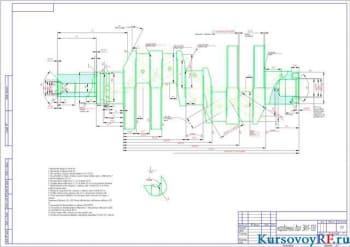 Чертеж  карданный вал ЗИЛ-130  (формат А 2 )