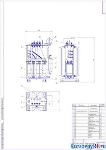 Расчет и конструирование трансформатора ТМ 400/6