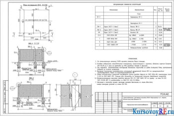 Чертеж плана ограждения ОГ-3 наружных сетей газоснабжения