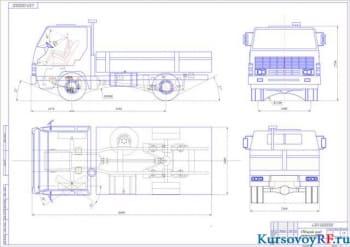 Курсовое проектирование компоновки и ходовой системы грузового автомобиля