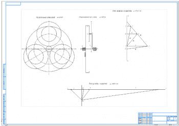 3.Графики расположения сателлитов, планы линейных и угловых скоростей А1