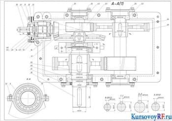 Привод конвейера: расчет редуктора