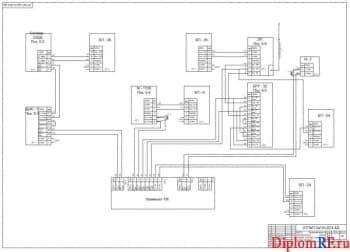 Чертеж принципиально-электрической схемы контура расхода аргона на чистую продувку (формат А1)