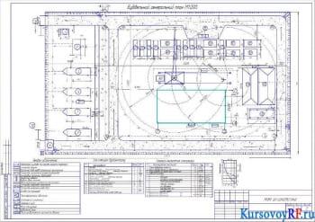 Строительный генеральный план М 1:200, Условные обозначения, экспликация стройгенплана, Технико-экономические показатели