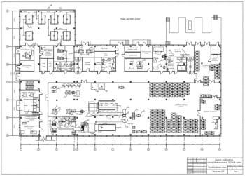 3.Чертеж производственного корпуса, план на отм 0,000 А1