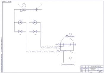 3.Схема подключения гидросистемы сепаратора А1