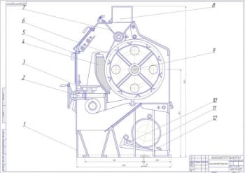 3.Вальцедековый станок, чертеж общего вида А1