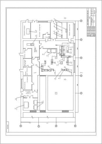 Общая техническая планировка цеха изготовления мясных полуфабрикатов А1