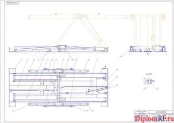 Реконструкция кузовного участка СТО с разработкой подъемника-опрокидывателя
