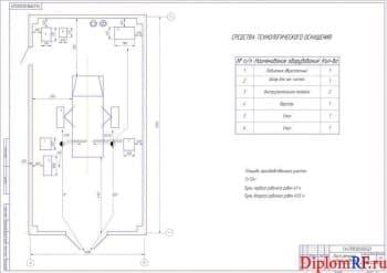 Чертеж поста ремонта подвески задней (формат А1)