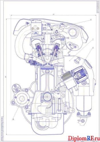 Разработка электромагнитного привода клапанов для бензинового двигателя мощностью 110 Кв