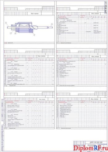 Чертёж карты процесса технологического (формат А1)