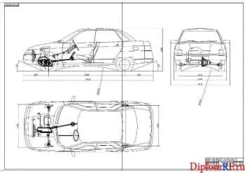 Чертеж компоновки автомобиля (формат А1)