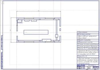 Производственная планировка ремонтной мастерской по результатам расчетов (формат А1)