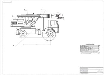 Разработка экскаватора-планировщика с челюстным ковшом на базе шасси МАЗ