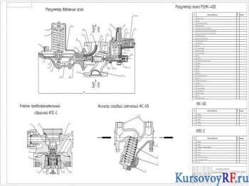 Регулирование давления газа в газорегуляторном пункте технологического объекта