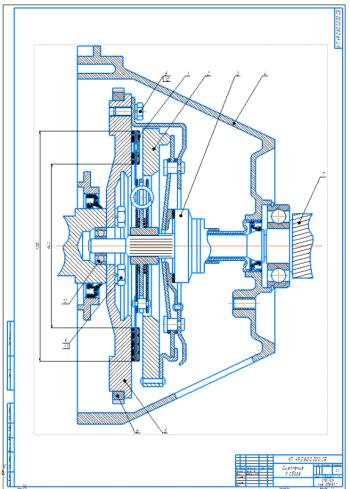Проектирование и расчет сцепления автомобиля ВАЗ-2101