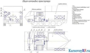 Общая компоновка транспортёра (фрагмент)