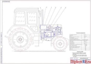 Разработка плазмореактора-очистителя выхлопных газов на тракторе Беларус-1221