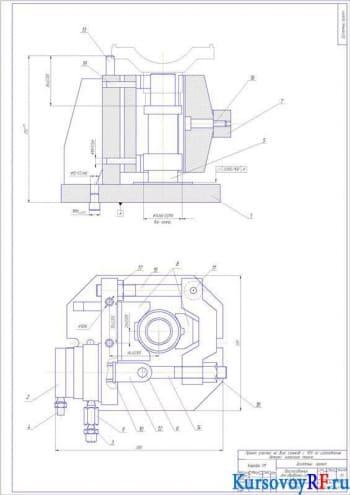 Приспособление для обработки сетки отверстийСВМ1Ф4