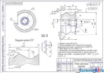 Деталь Резец фасонный круглый