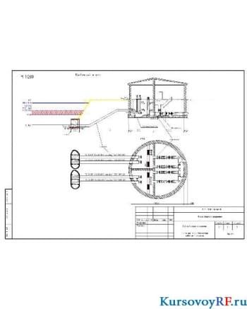 Схема руслового водозабора совмещенного типа л. 4.