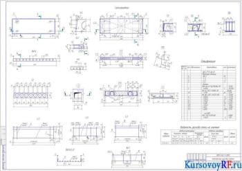 Виды, Сечения, Схема армирования, Сетки арматурные С-1, С-2, С-3, Кр-1