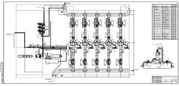 4.Чертеж плана установки очистки газа  2хА1