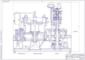 Проект машины для укупоривания на базе Фасан 30/08 для ПЭТ бутылок с тихими напитками