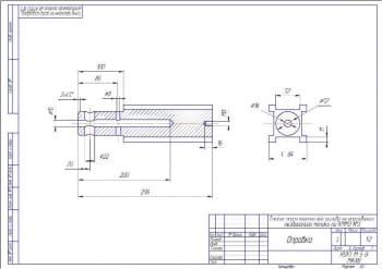 4.Рабочий чертеж детали оправка А3