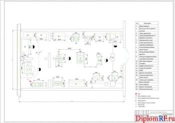 Чертеж участка агрегатного (формат А1)