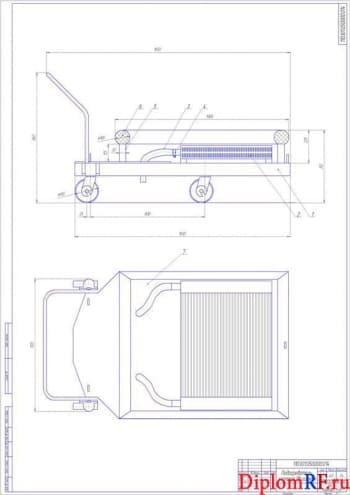 Организация безгаражного содержания автомобиля ГАЗ 33023 в зимний период с разработкой конструкции передвижного подогревателя картера двигателя