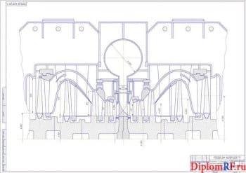 Чертеж ЦНД модернизированной турбины К-800-240 (формат А1)