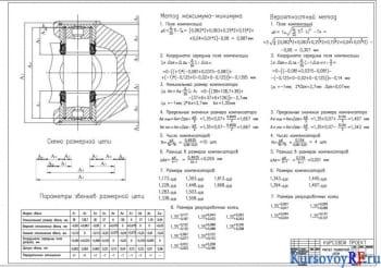 Расчет размерной цепи (формат А1)