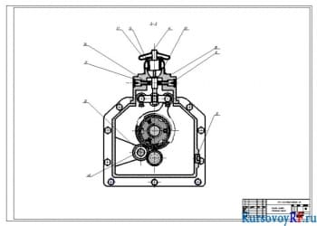 Коробка передач, поперечный разрез (формат А1)