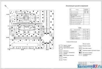 Чертеж генплана М 1:500, ТЭП, экспликация помещений, условные обозначения